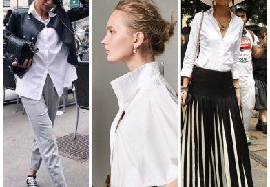 Mille modi per indossare la camicia bianca