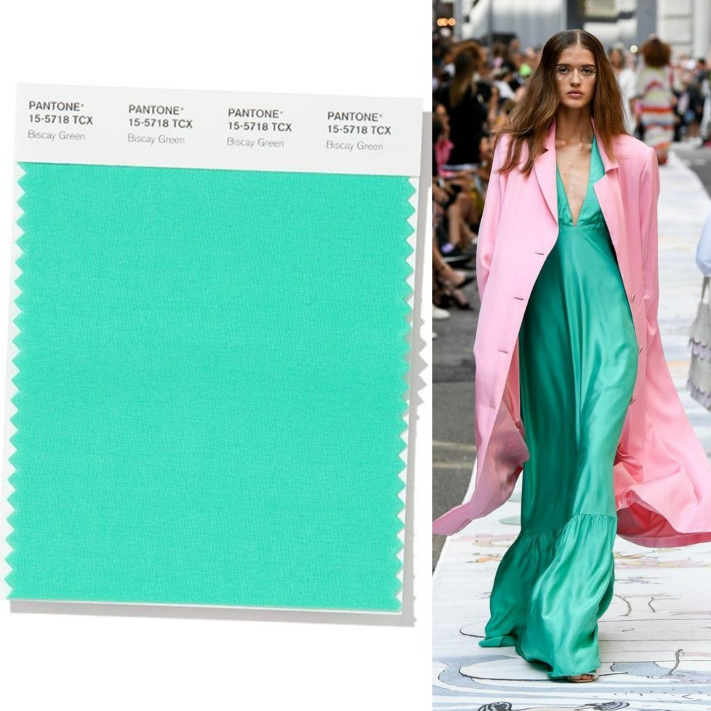 Biscay Green colore pantone 2020