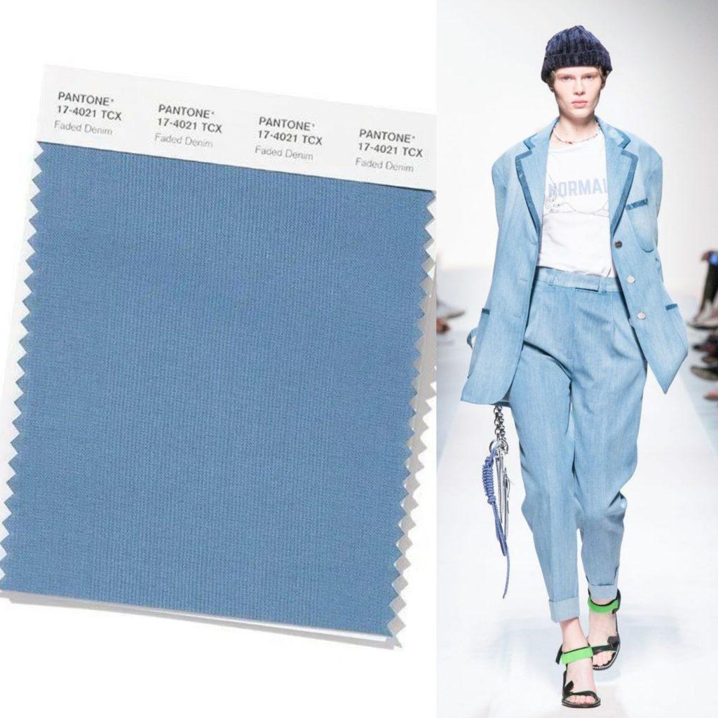 faded denim colore pantone 2020