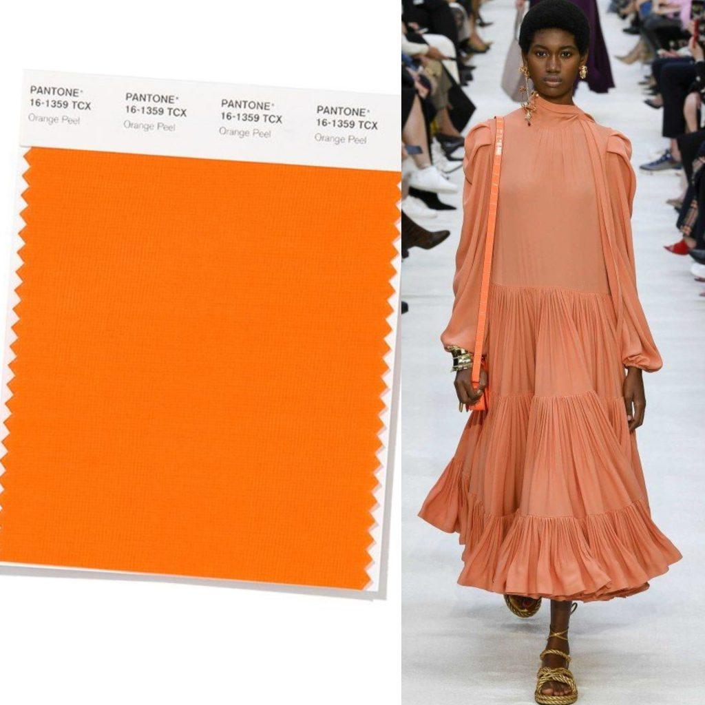 orange peel colore pantone 2020