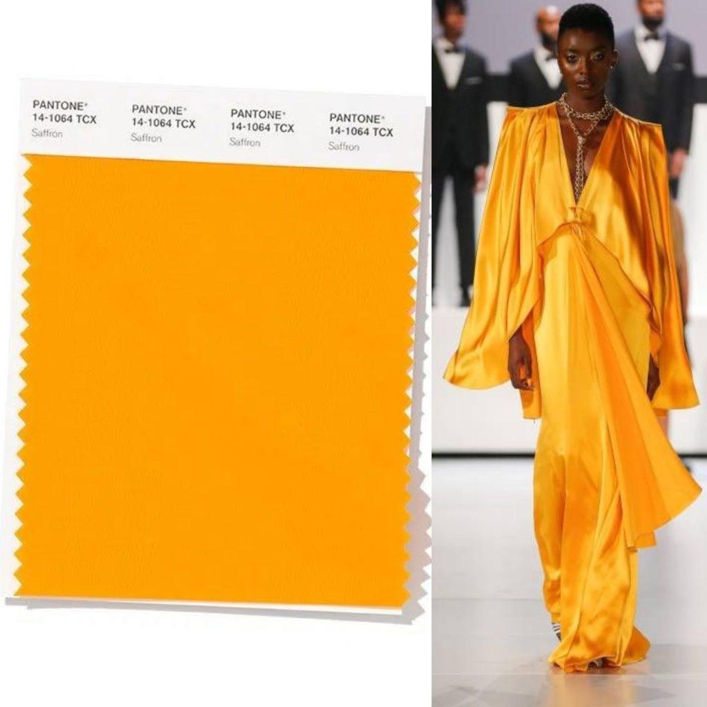 saffron colore pantone 2020