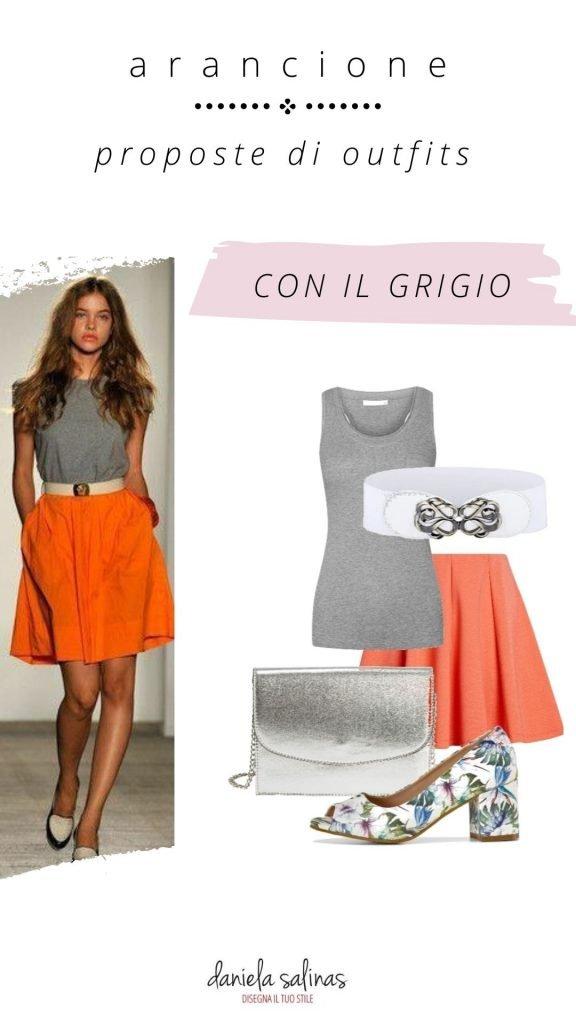 grigio e arancione