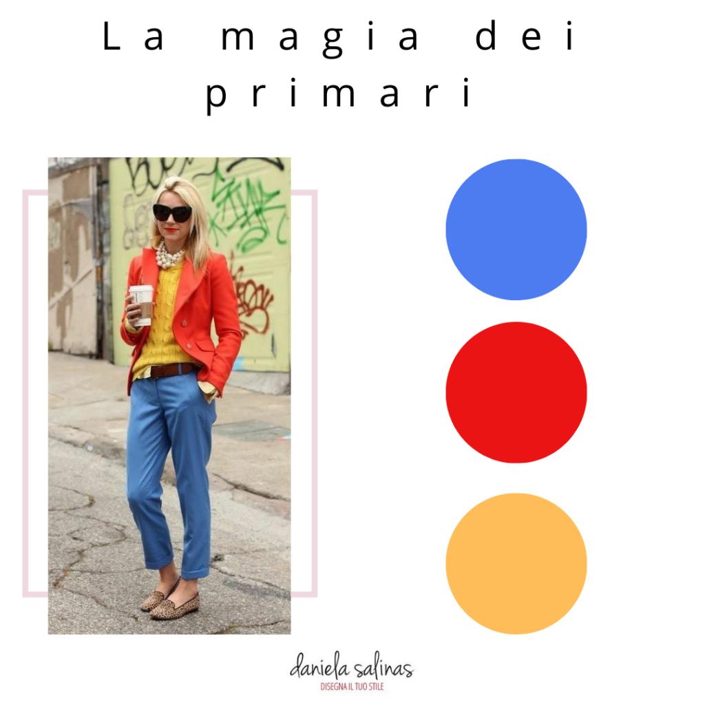 outfit con colori primari