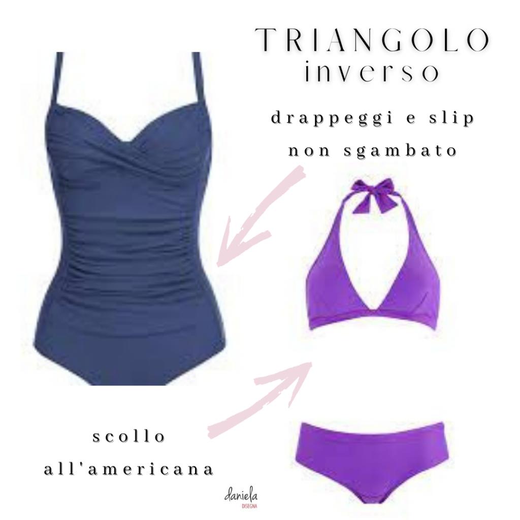 Costume per la forma triangolo inverso