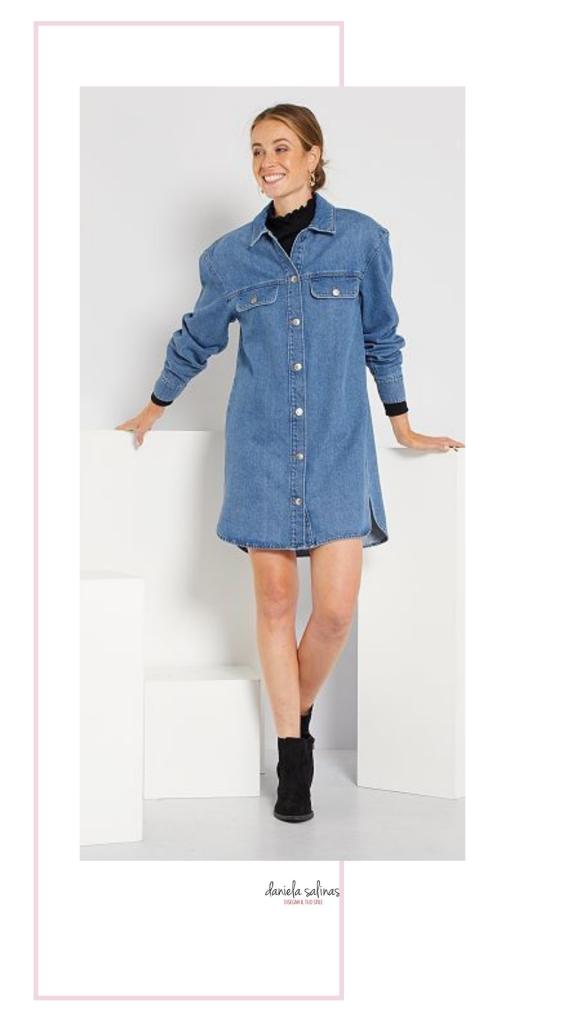 vestito modello chemisier